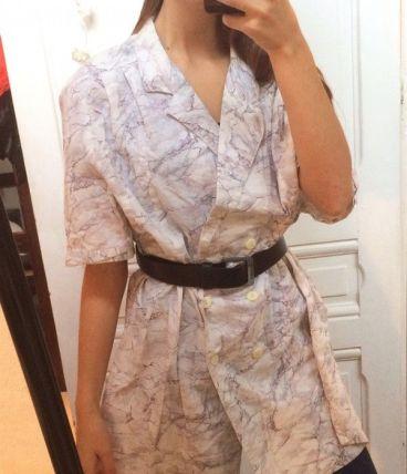Chemise longue/robe marble