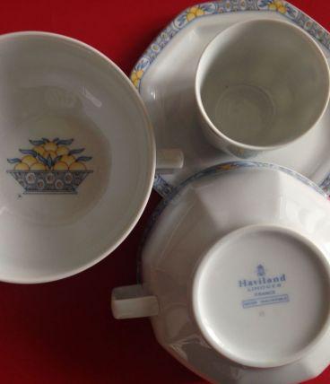service à café Haviland pamplemousse