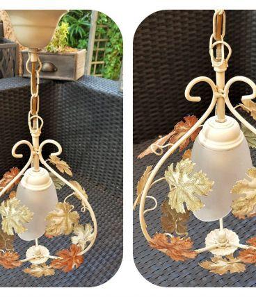 Suspension Lustre métal 1 ampoule Style Florentin