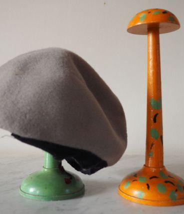 Lot de 2 porte-chapeau en bois peint