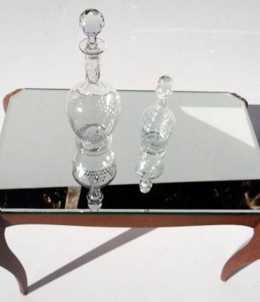 Table basse plateau miroir
