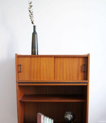 Meuble rangement bibliothèque vintage 50's style P. Guariche