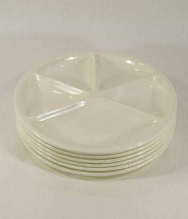 6 assiettes à fondue