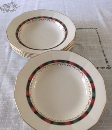 Lot de 6 assiettes creuses Sarreguemines