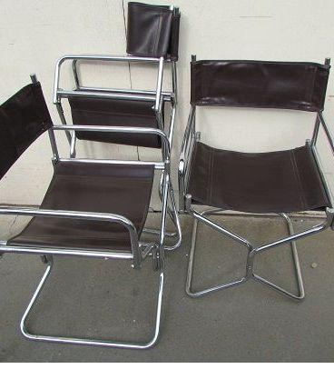 3 fauteuils pliants année 70, LAFUMA