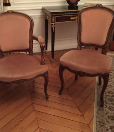 Salon 5 pièces style Louis XV