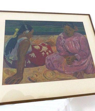 Lithographie Repro Tableau Paul GAUGUIN Femmes Tahiti