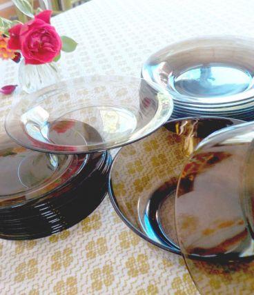 Assiettes dessert Vereco fumé