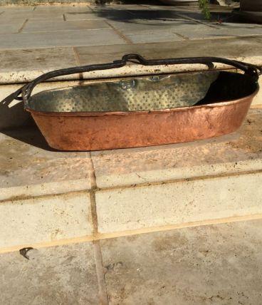 Turbotière cuivre martelé