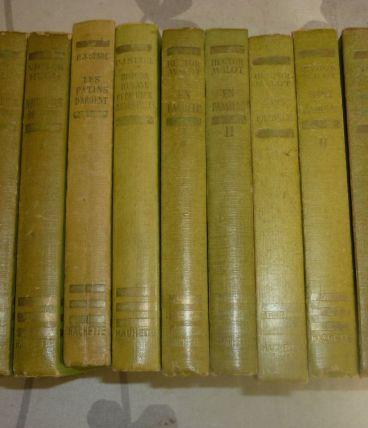 Lot de 11 anciens livres Hachette de la Bibliothèque verte
