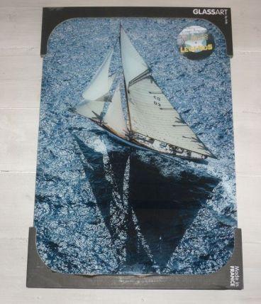 Deco murale Glassart Voilier Mer