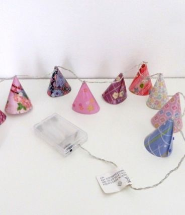 Guirlande Lumineuse Neuve LED Veilleuse 10 Cônes Lampes Déco