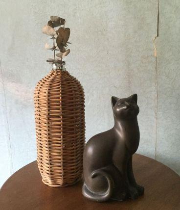 Statue chat en résine