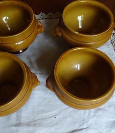 4 bols à soupe tête de lion