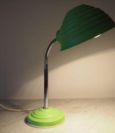 Lampe de bureau vintage en aluminium laqué