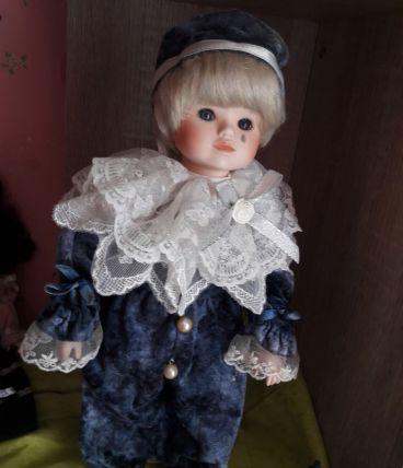 Poupée en Porcelaine Pierrot Mundia 35cm TRÈS RARE