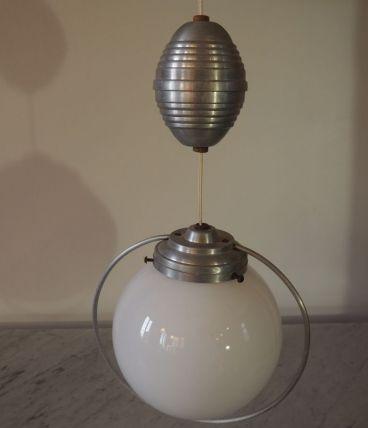 Suspension globe opaline vintage