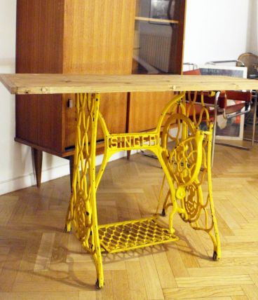 Table ou Console Singer upcycling