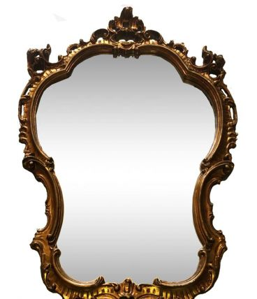 Miroir doré Louis XVI