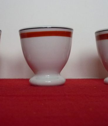 3 coquetiers Porcelaine Auteuil