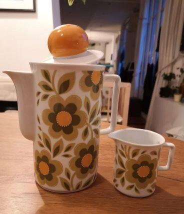 Pots à café et lait vintage Schirnding Bavaria