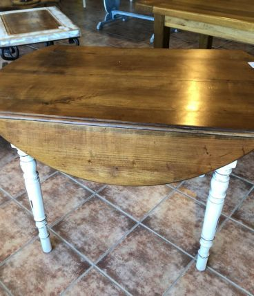 Table pliante ronde en chêne TM017