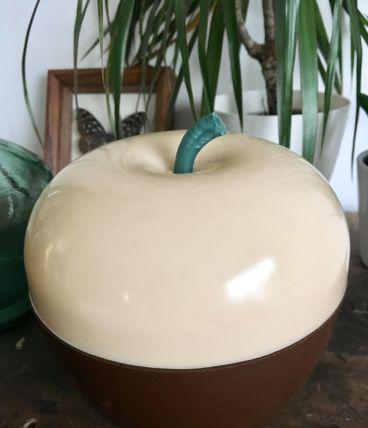 Seau à glaçon pomme bicolore vintage