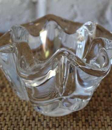 Beau vide-poches  en cristal, Art Vannes France
