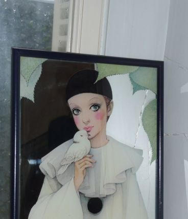 Miroir Pierrot love 1980