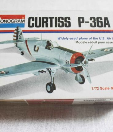 maquette avion Curtiss P-36A 1/72