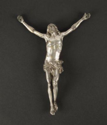 Christ en bronze argenté XVIIe – XVIIIe siècle