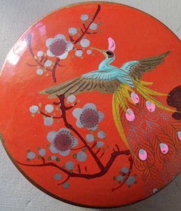 boite ronde peinte à la main