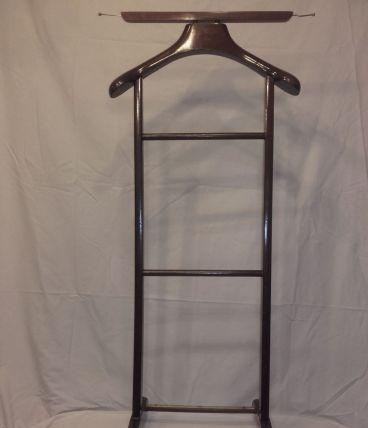 Porte vêtement italien Fratelli Reguitti en bois et laiton