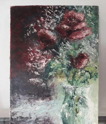 Tableau-Peinture à l'huile - Original signé