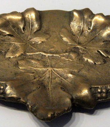 vide poche ,ramasse monnaie bronze motif floral feuille de c