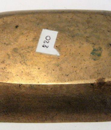 vide poche ,ramasse monnaie bronze épis de blé art nouveau