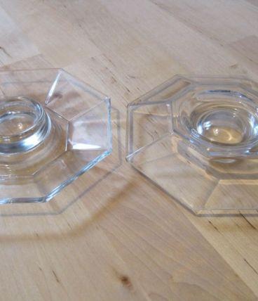 4 coquetiers en verre vintage  marque France