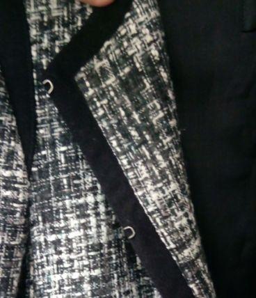 veste effet tweed