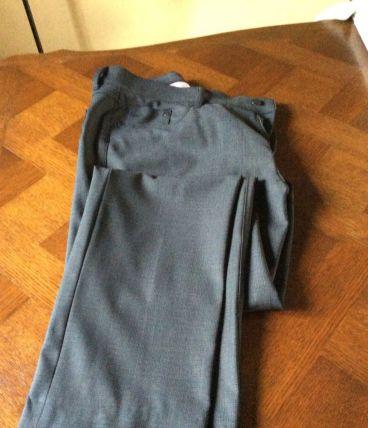 Pantalon gris foncé Tissu Spécial Voiture