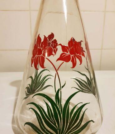 Carafe vintage motif à fleurs - Années 60