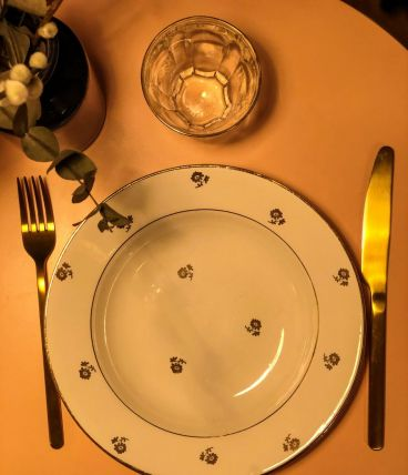 6 assiettes creuses l'Amandinoise