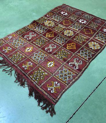 Tapis berbère en laine fait main