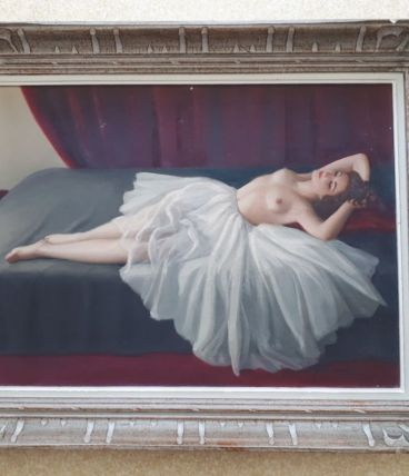 Tableau « Femme allongée aux seins nus »