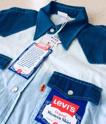 Chemise Levi's rare Made in USA Orange Tab