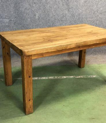 Petite table de ferme en sapin des années 50