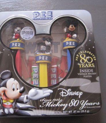 """Boite collector  PEZ DISNEY """"les 80 ans de Mickey"""""""