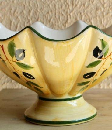 Coupe décor provençal