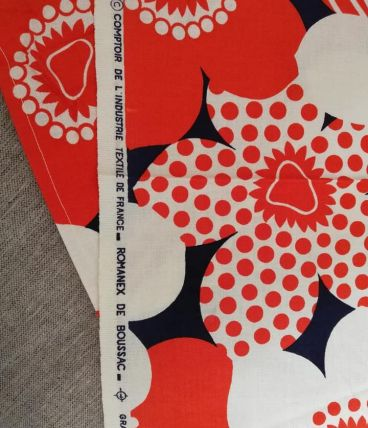 coupons tissus d'ameublement vintage 70' Romanex de Boussac