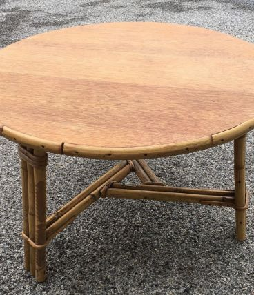 Table basse rotin AUDOUX-MINNET