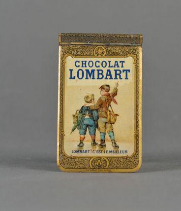 carnet tôle lithographiée chocolat Lombart 1906 - calendrier